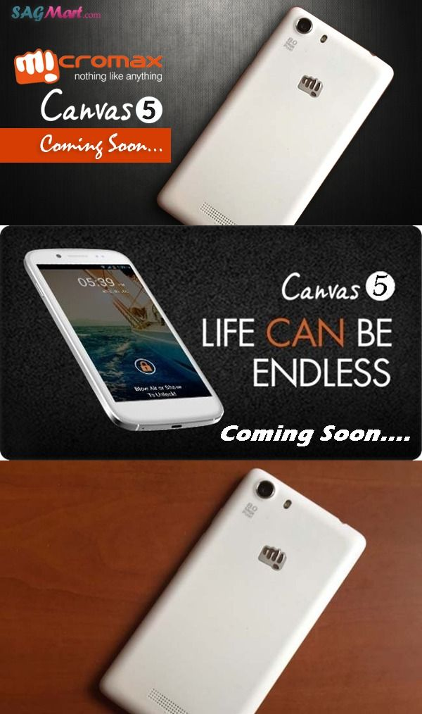 Micromax Mobile is all set to launch its next Canvas flagship smartphone in India ‪#SagmartMobile‬ ‪#Canvas5‬ ‪#‎Micromax‬