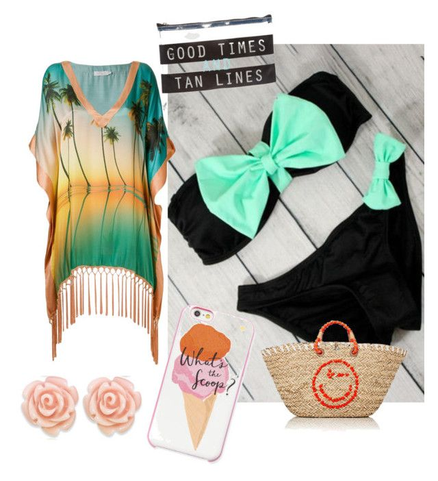 """""""beach"""" by jekilicb ❤ liked on Polyvore featuring Eternally Haute, Kate Spade, Anya Hindmarch, Brigitte and ASOS"""