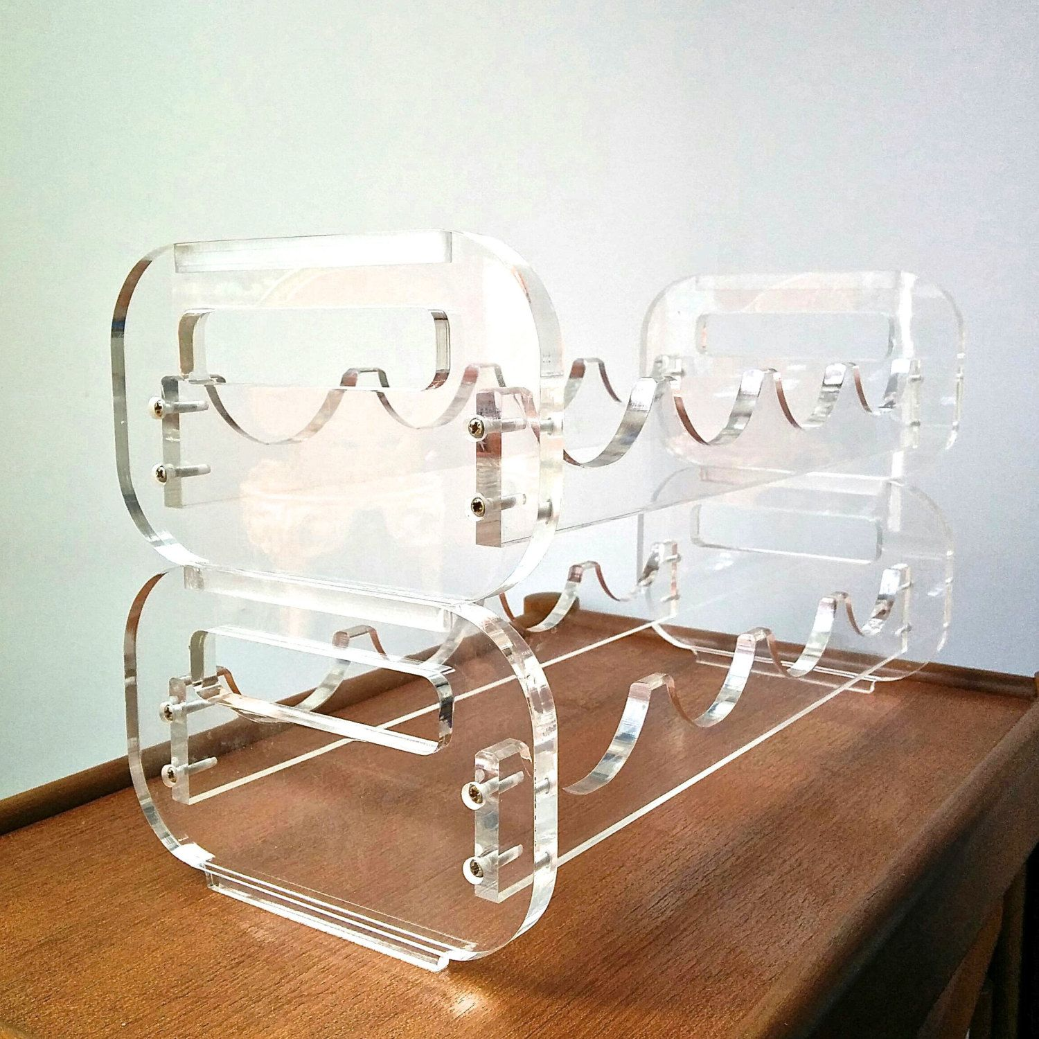 sculpture mount dazzling glass wall design ideas furniture great clear racks material with kitchen metal wine rack