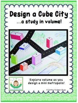 Design A Cube City A Study In Volume  Student Paper And Dots