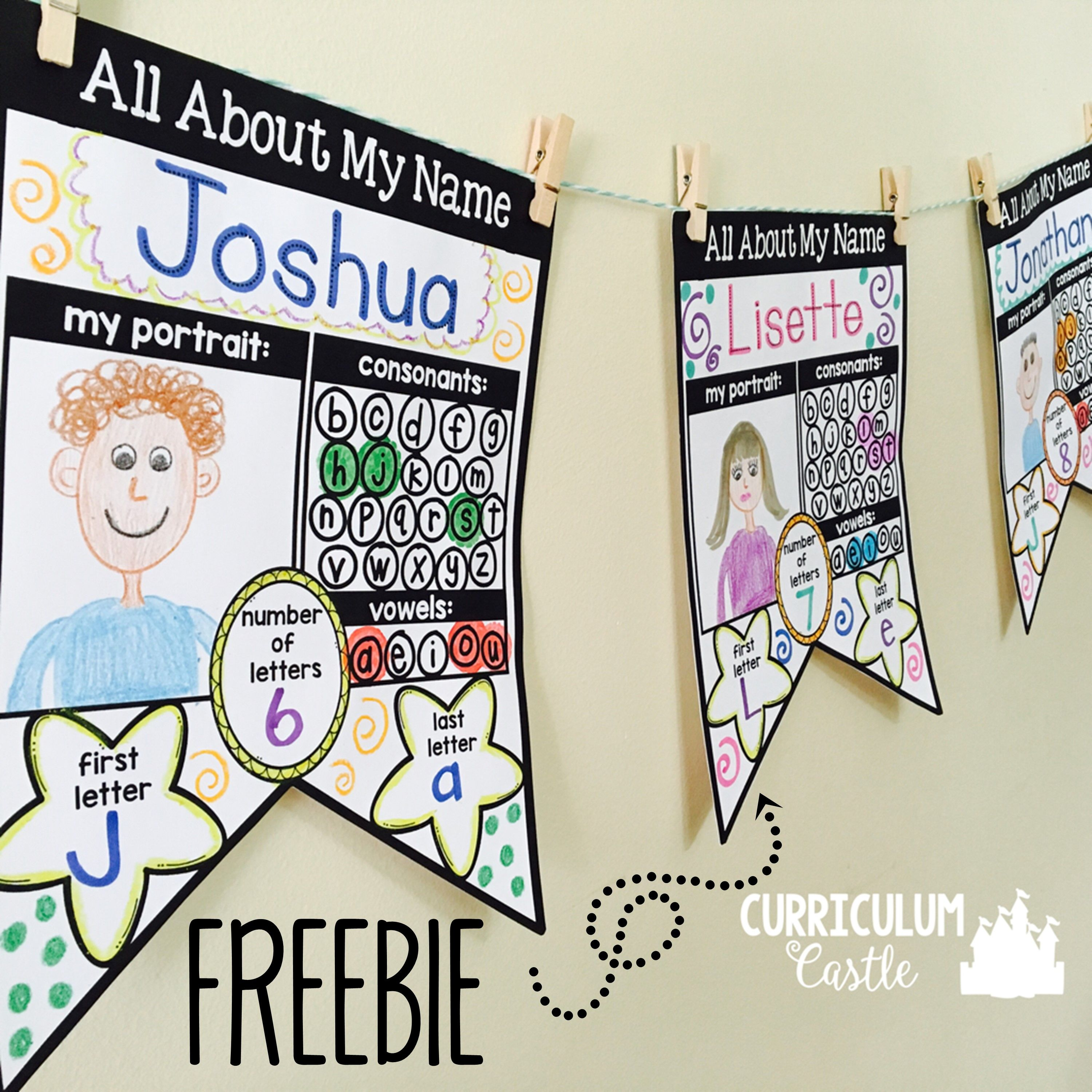 Name Activities Editable All About My Name Freebie