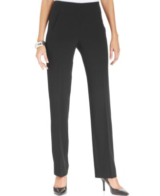 Style Co Tummy Control Pull On Straight Leg Pants Created For Macy S Reviews Pants Leggings Women Macy S Straight Leg Pants Pants For Women Leggings Are Not Pants