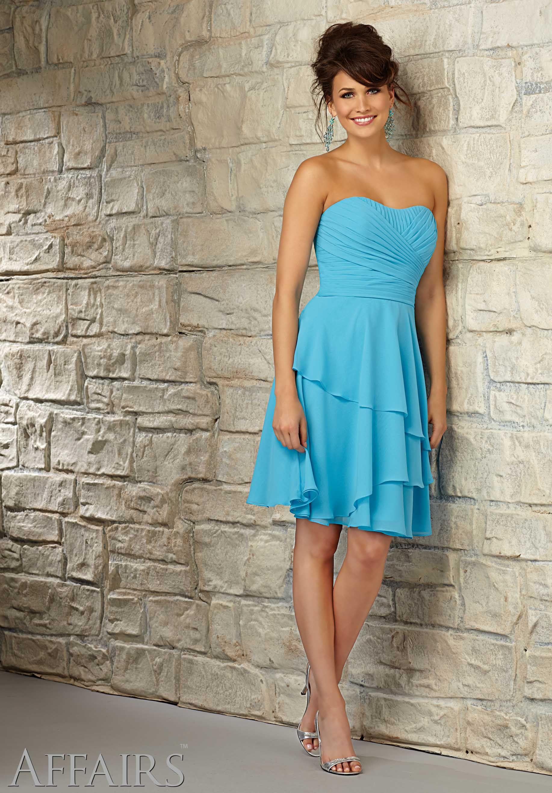 Bridesmaids Dress 31055 Chiffon