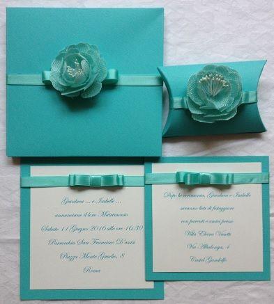 Partecipazioni Matrimonio Color Tiffany.Partecipazione Nozze Color Tiffany Partecipazioni Matrimonio