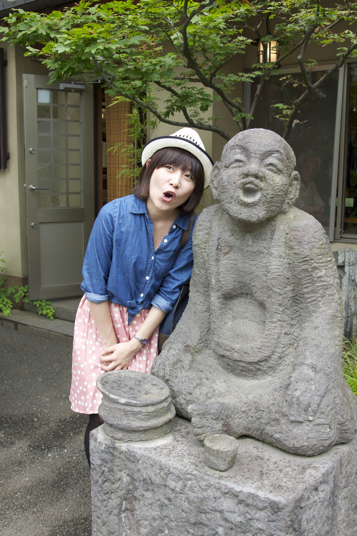 Rin-chan's character impersonation.  Jindaiji