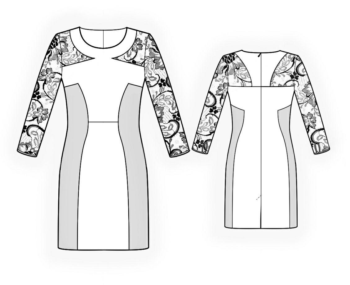 Vestido - Patrón de costura # 4299. Hecho a medida patrón de costura ...