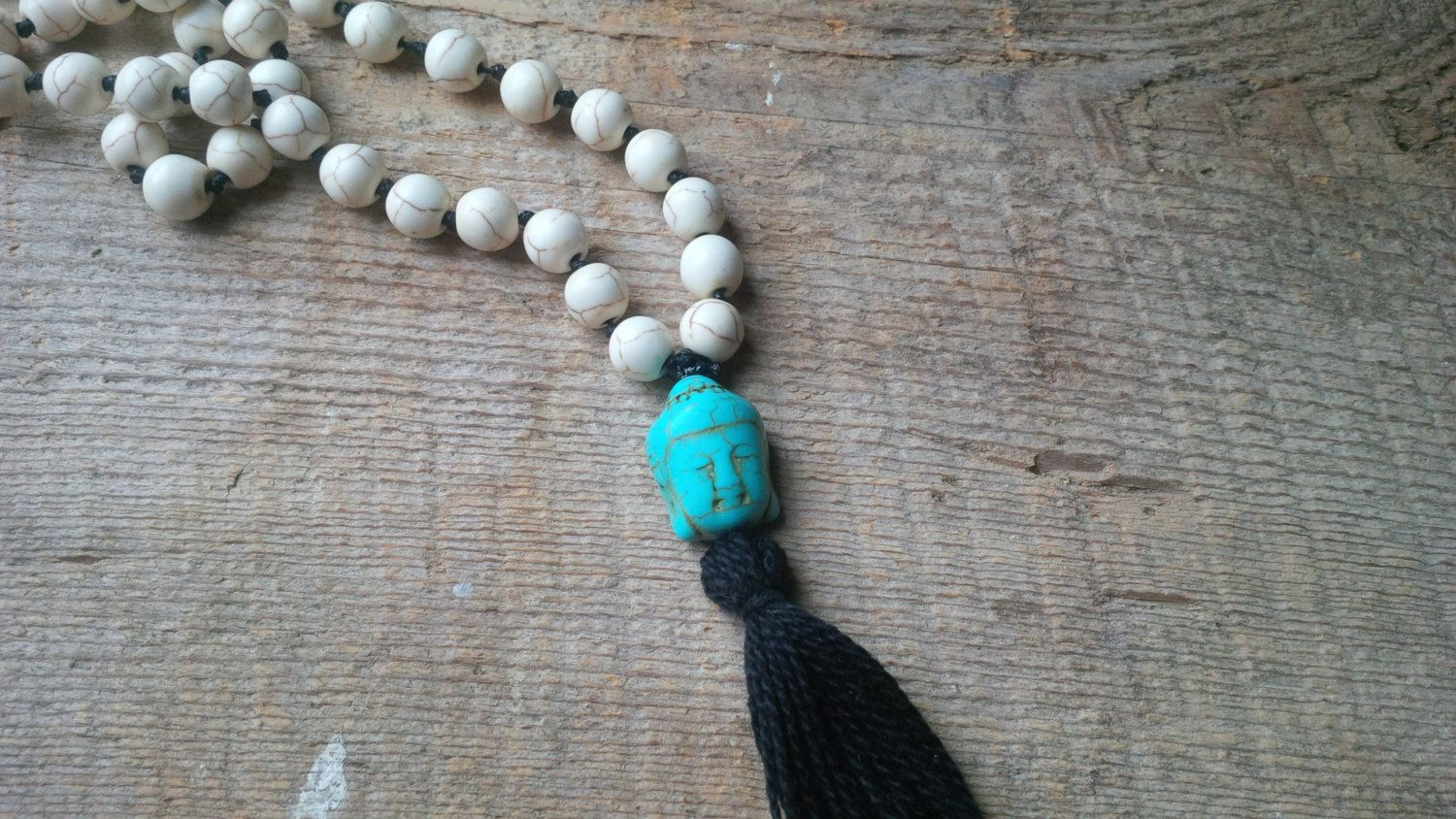 108 Mala Bead Necklace, Buddha Necklace, Beaded Necklace, Mala, Yoga Necklacce, Skullznbeadz Necklace by SkullzNBeadz on Etsy