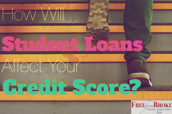 How Will Your Student Loans Affect Your Credit Score Credit