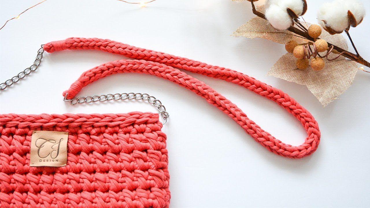 How To Crochet Bag Handles Cj Design Bolsos De Ganchillo Cartera Tejida A Crochet Correas Para Bolsos