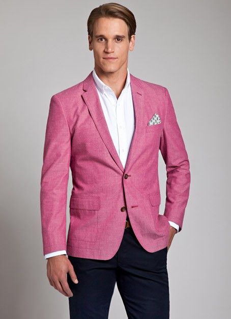 Collection Pink Mens Blazer Pictures - Reikian