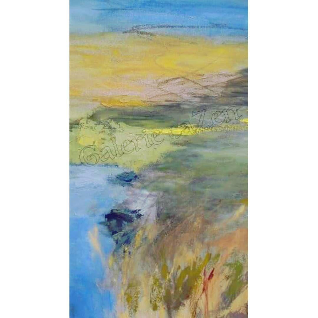 Paysage Corse Par Elisabeth Gavard Artiste Peintre Plasticienne