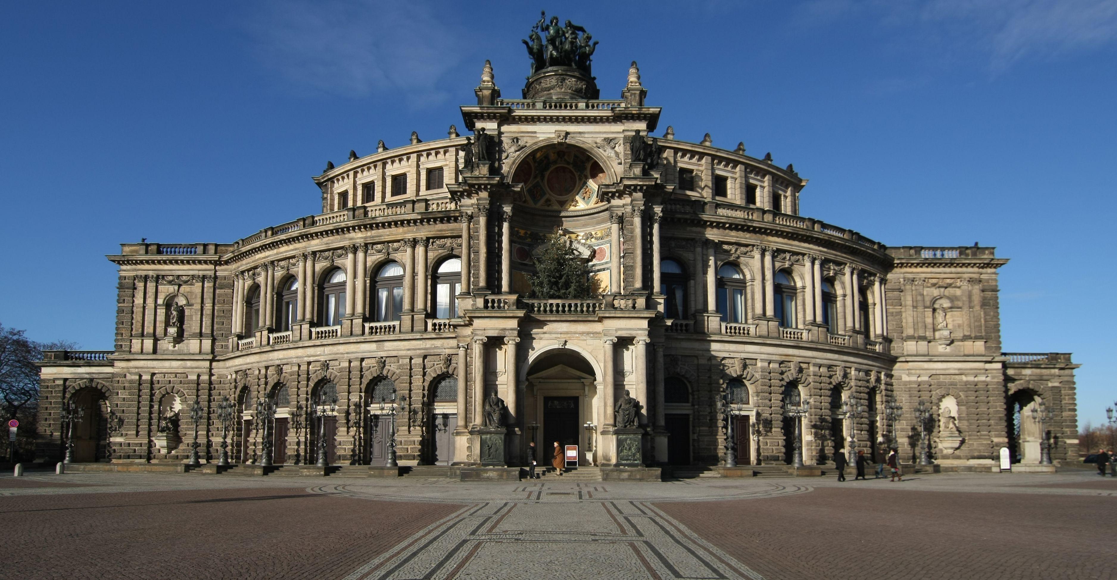 Semperoper Dresden Germany Reizen Vakantie Duitsland