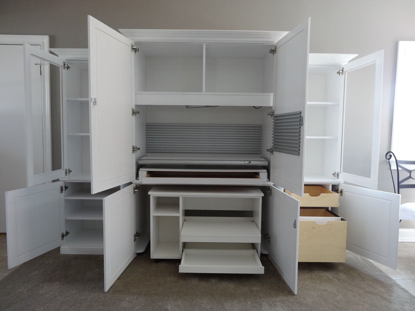 Design Your Own Hobby Hideaway Craft Storage Cabinet To Meet Your Own  Specific