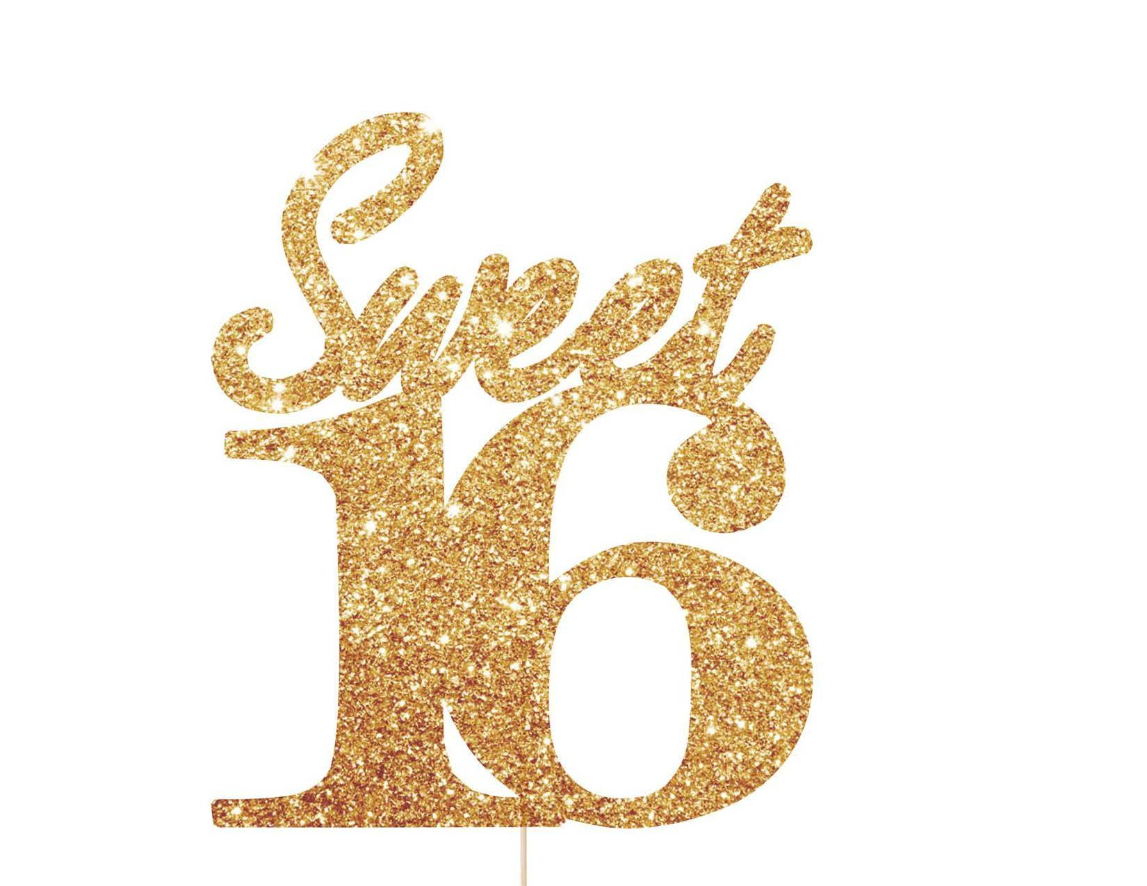 Sweet Sixteen Cake Toppers For Birthdays