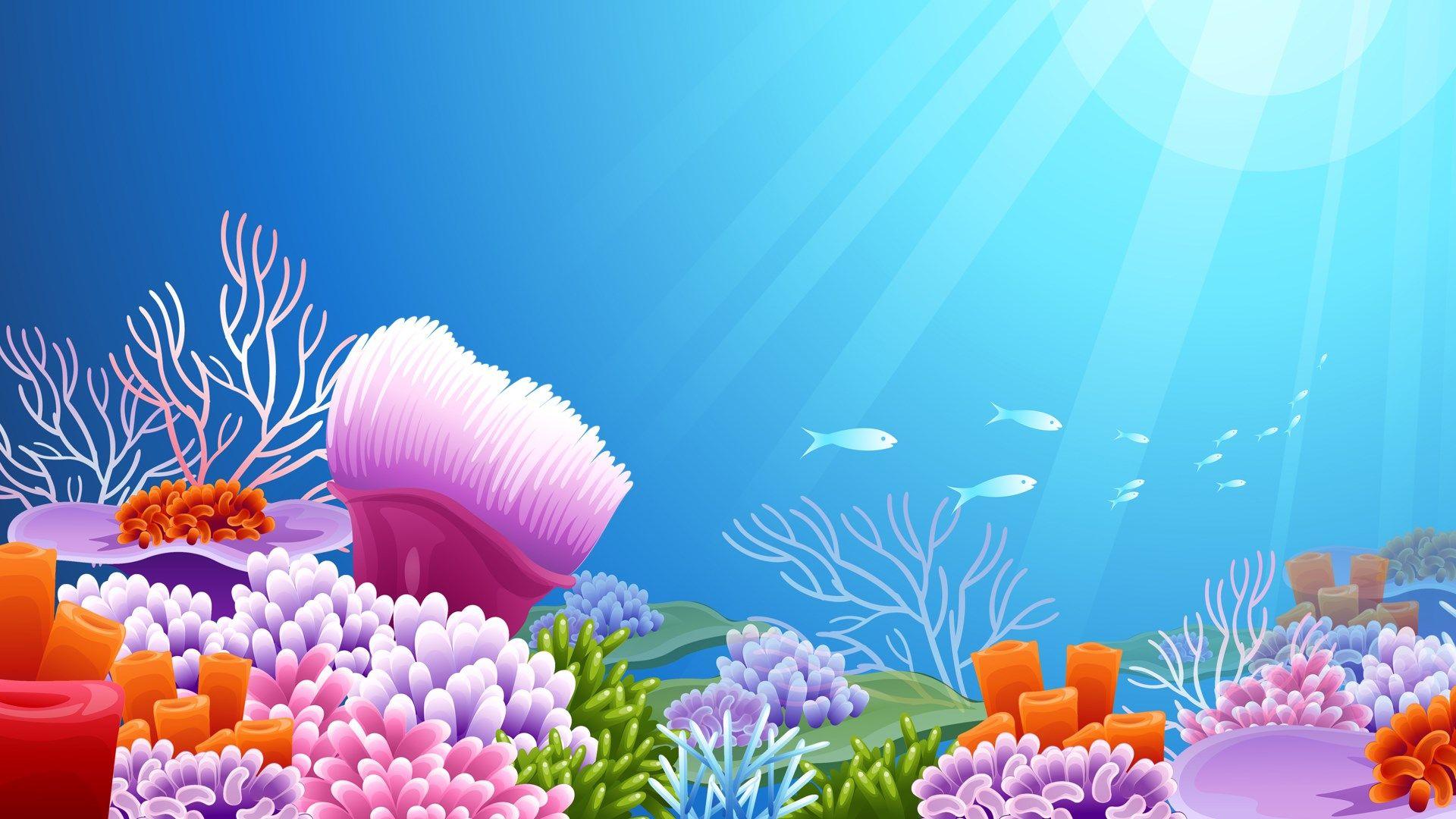 1920x1080 Underwater Free Computer Wallpaper Jpg 298 Kb Aquarium Backgrounds Galaxy Painting Wallpaper