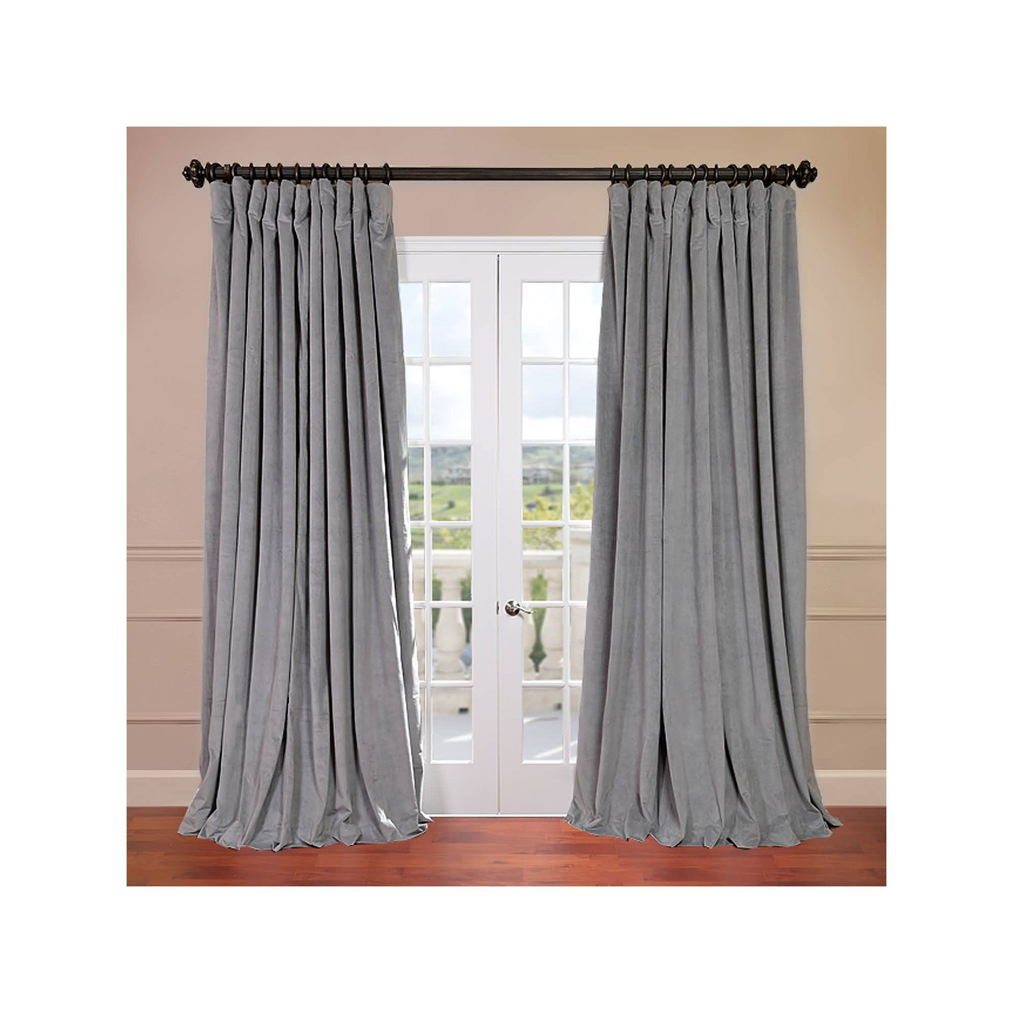 curtain door patio panel single extra grommet melanie wide pin curtains