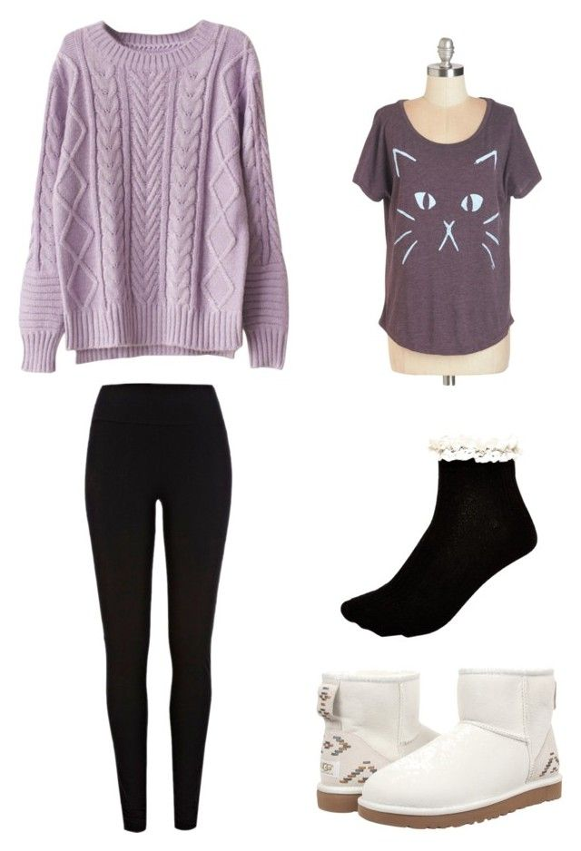 """""""Winter Weather"""" by fluffball962 on Polyvore featuring River Island and UGG Australia"""