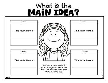 Main Idea Made Easy With Pictures For Kindergarten First Grade Reading First Grade Reading Kindergarten Worksheets Main Idea Worksheet Main idea first grade worksheets