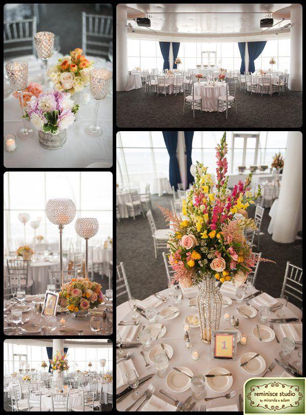 Pink lavender white silver and yellow wedding flowers and decor pink lavender white silver and yellow wedding flowers and decor at pier wisconsin junglespirit Choice Image