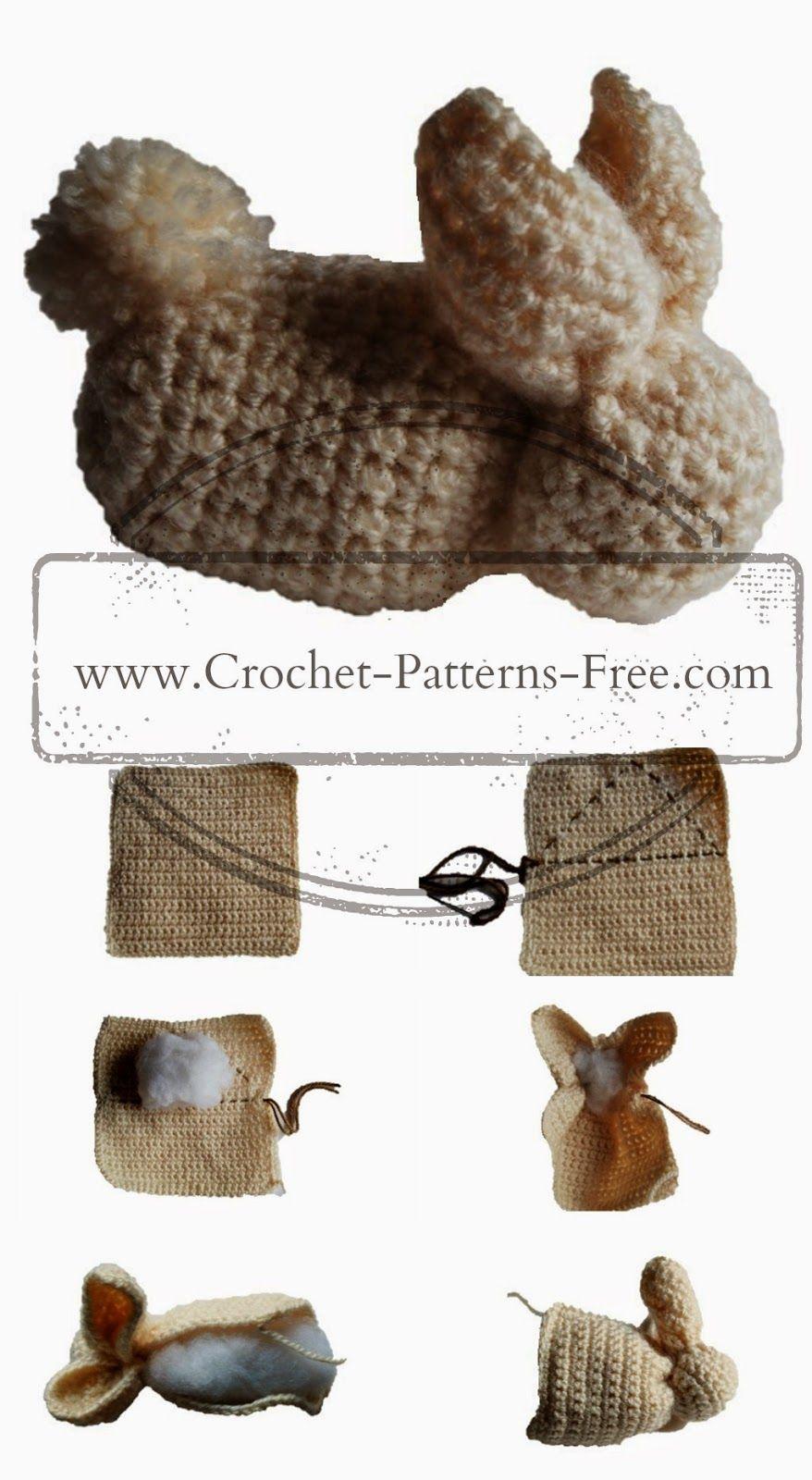 Free Crochet Patterns and Designs by LisaAuch: Easy Cute Bunny Made ...
