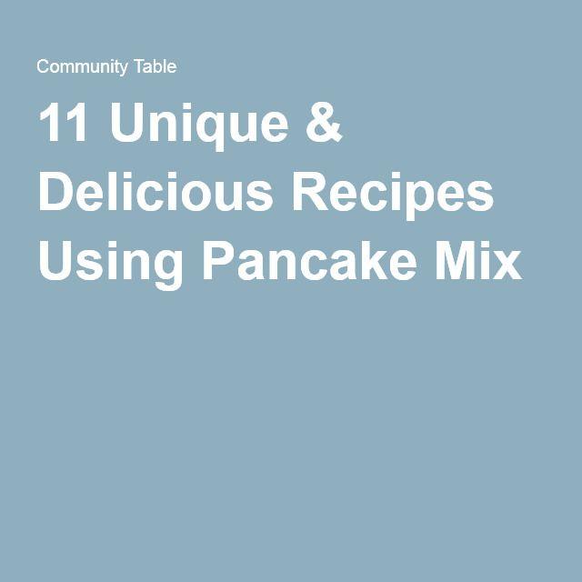 Easy recipes using pancake mix