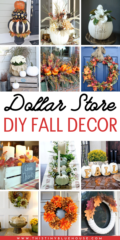 35 Stunning Dollar Store DIY Fall Decor Ideas in 2020