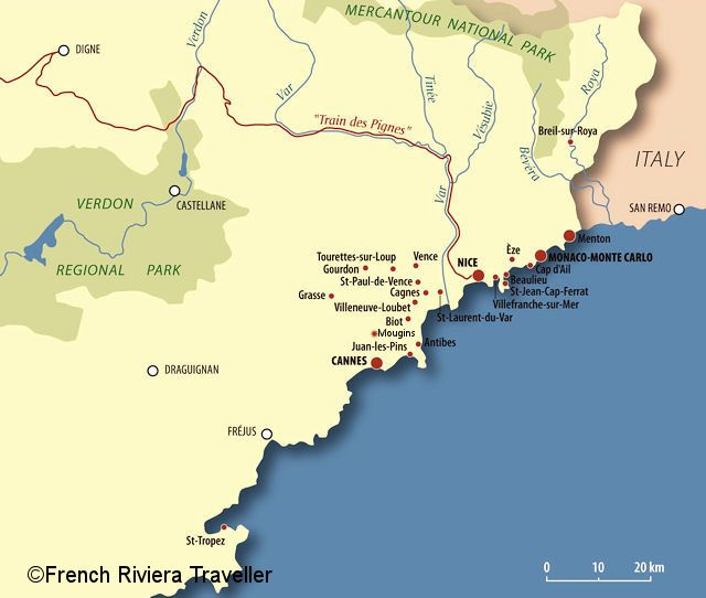 French Riviera Map travel Pinterest French riviera France and