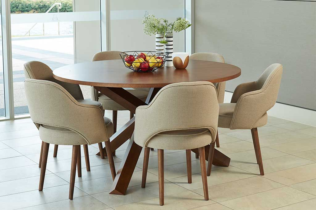 Dining Sets Harris 7pce Round Dining Suite Perth - Living Room Chairs Perth
