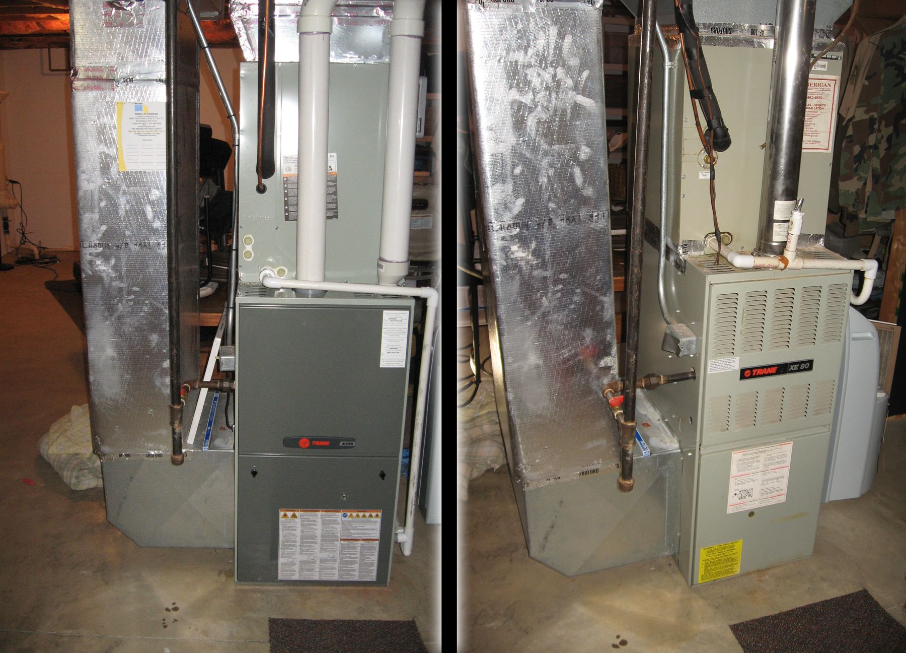 here s a trane xv95 furnace and an xl18i ac unit we installed for a customer holtzopleheatingandairconditioning beforeandafter [ 1800 x 1296 Pixel ]