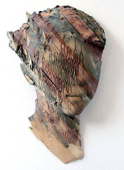 Reinhard Voss  - The Others - Wood sculpture