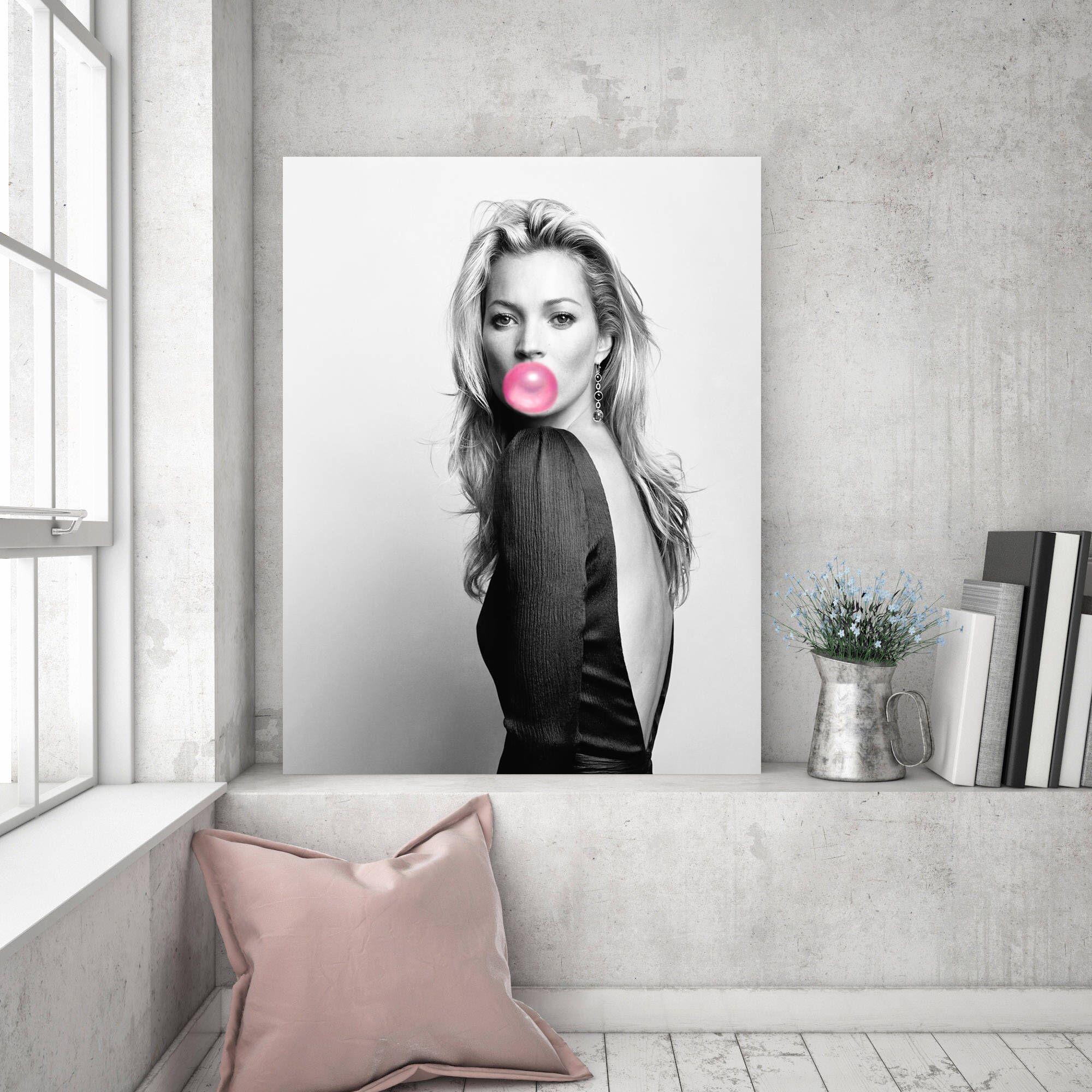 CANVAS Kate Moss Print Art POSTER