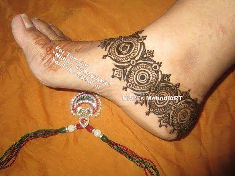 Mehndi Ankle Image : Adorable anklet jewellery inspired feet henna mehndi design