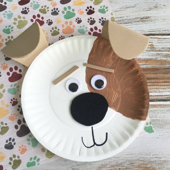 Max Dog Paper Plate Craft (Craft Gawker) | Paper plate crafts Dog and Craft : dog paper plates - pezcame.com