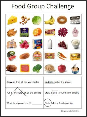 Worksheets Food Groups Worksheets empowered by them food group challenge life skills pinterest challenge