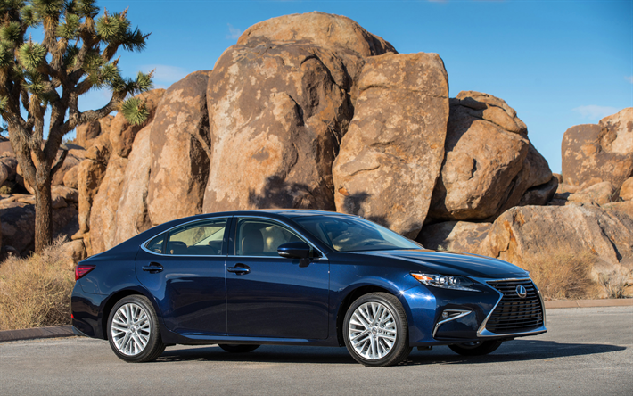 Scarica sfondi Lexus ES 350, 2018 automobili, auto di lusso, Lexus ES, auto giapponesi, Lexus