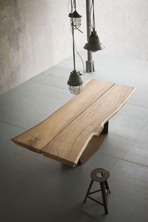 Modern Wabi Sabi Slab Dining Tables Wooden Dining Tables Oak Table