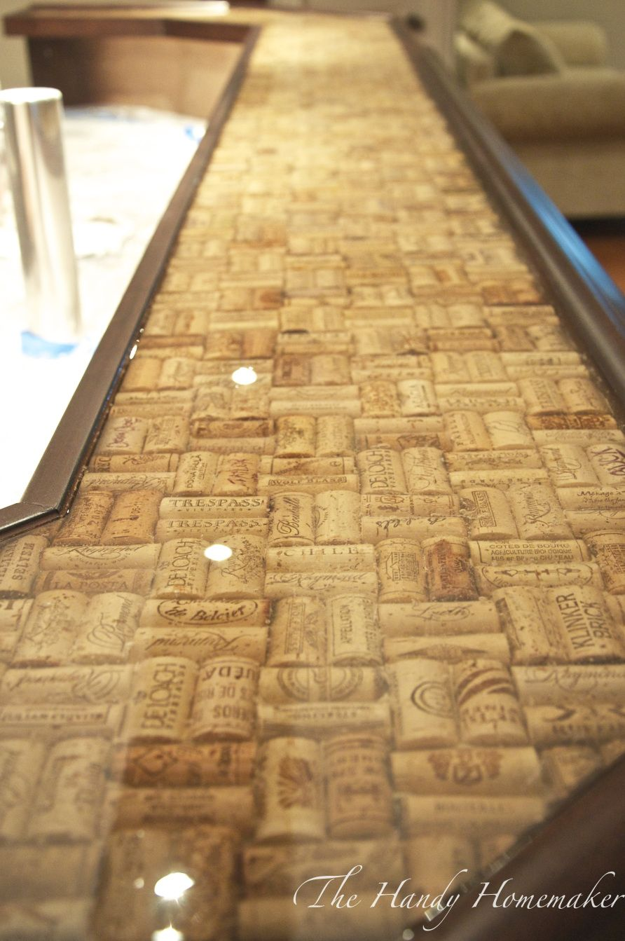 DIY epoxy and wine cork counter | DIY | Pinterest