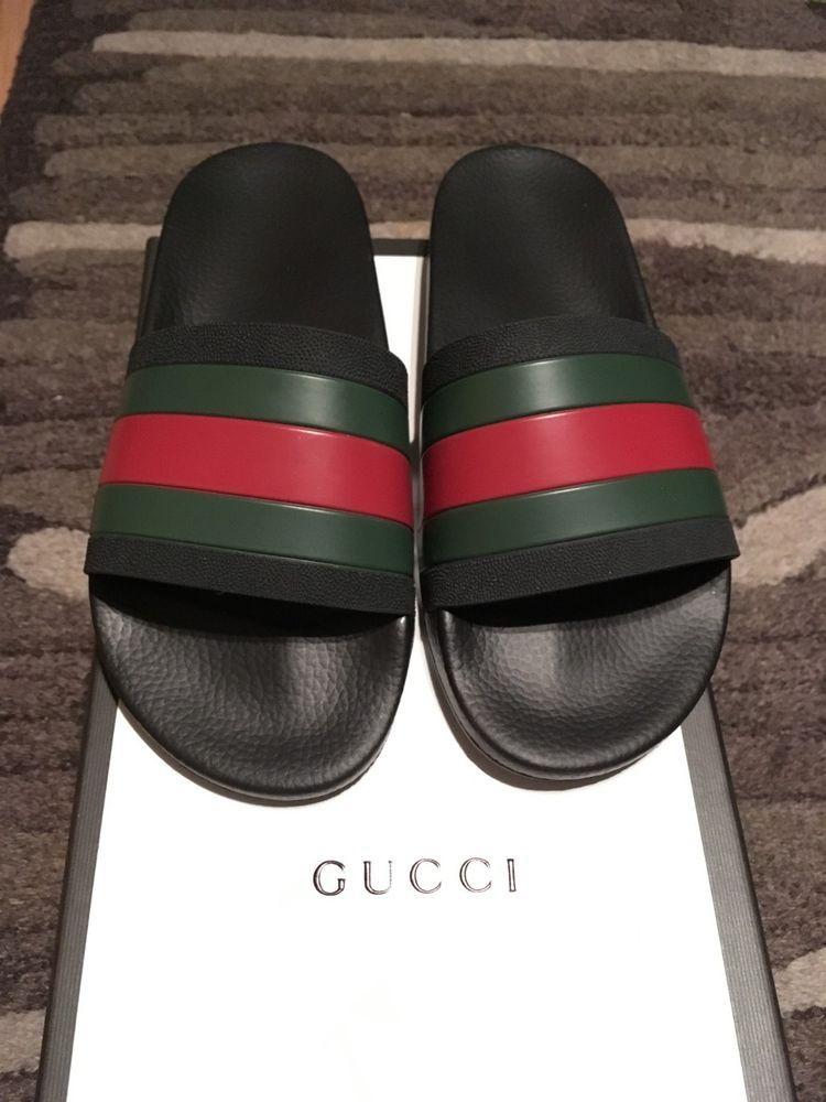 c5518f787582 Mens Gucci Slides Size 9  fashion  clothing  shoes  accessories  mensshoes