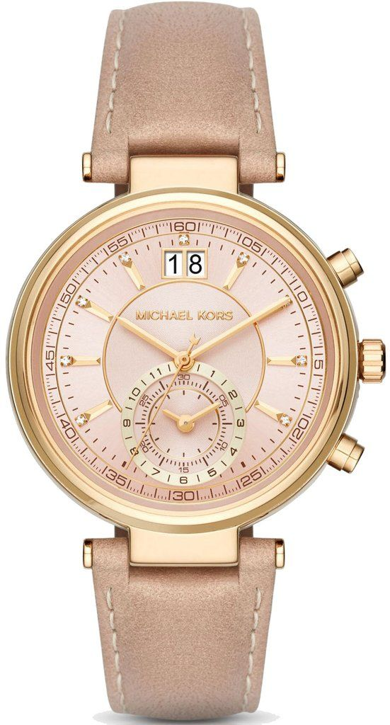 Michael Kors Watch Sawyer #add-content #bezel-fixed #bracelet-strap