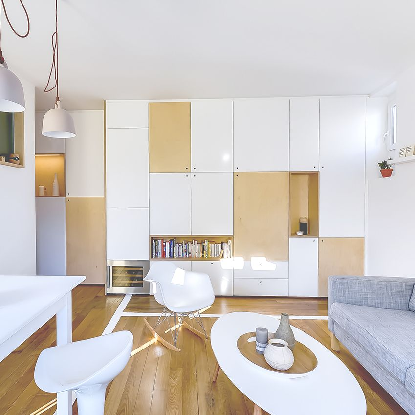 Mini-Appartement einrichten Tiny apartments, Living rooms and