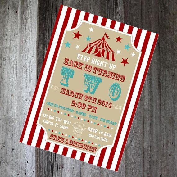 carnival invite circus invitation diy by pencilmouthdesigns 12 00