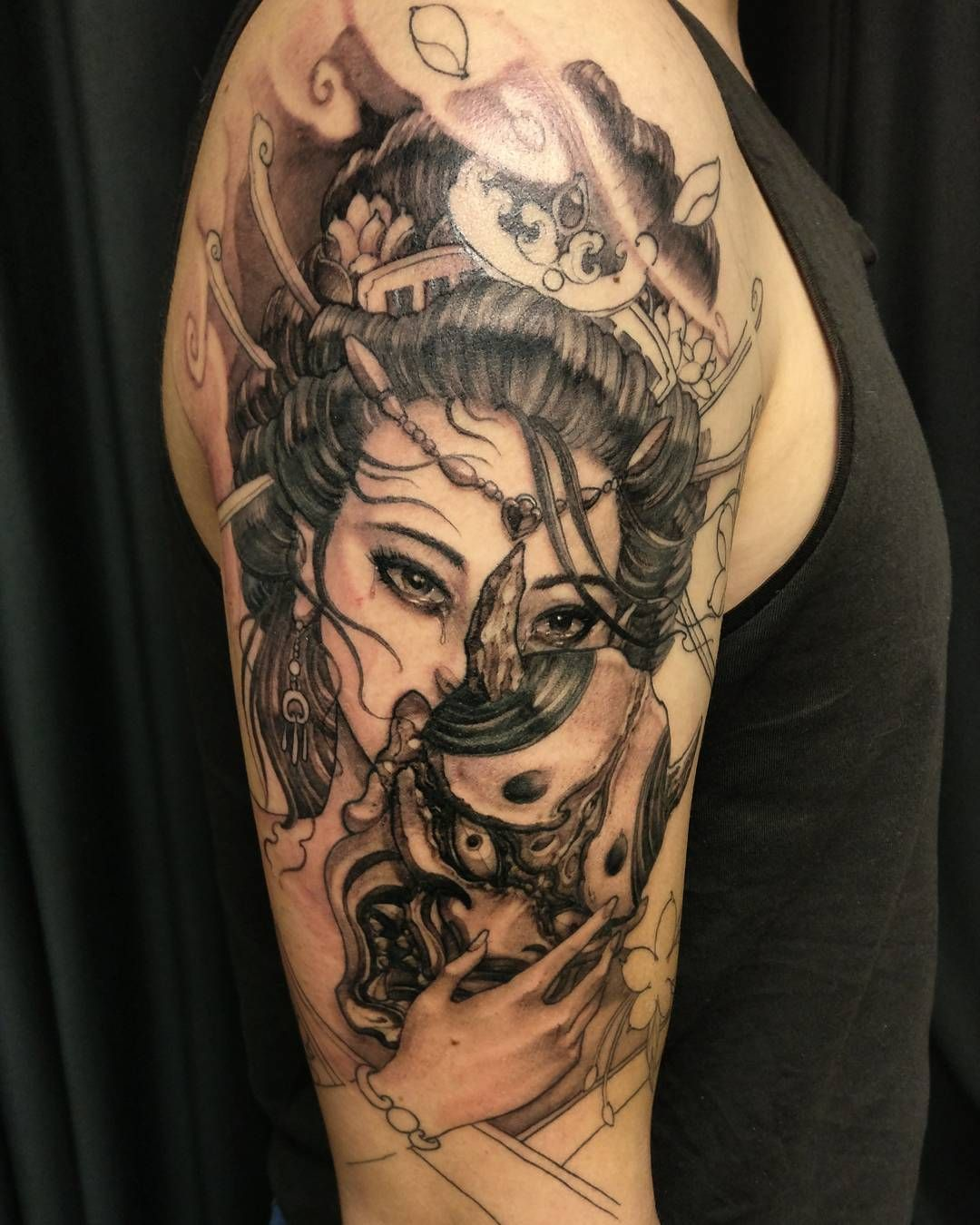 David Hoang Geisha Hannya Irezumi Tattoo Art Tattoos
