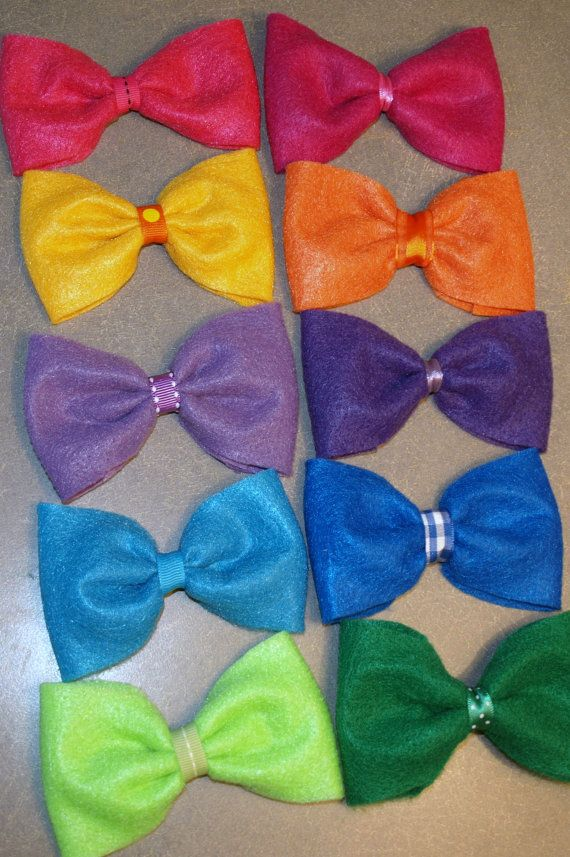 Bright Colored Scene Style Hair Bows by mylittlebows