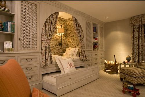 Bed nook with hide-a-bed