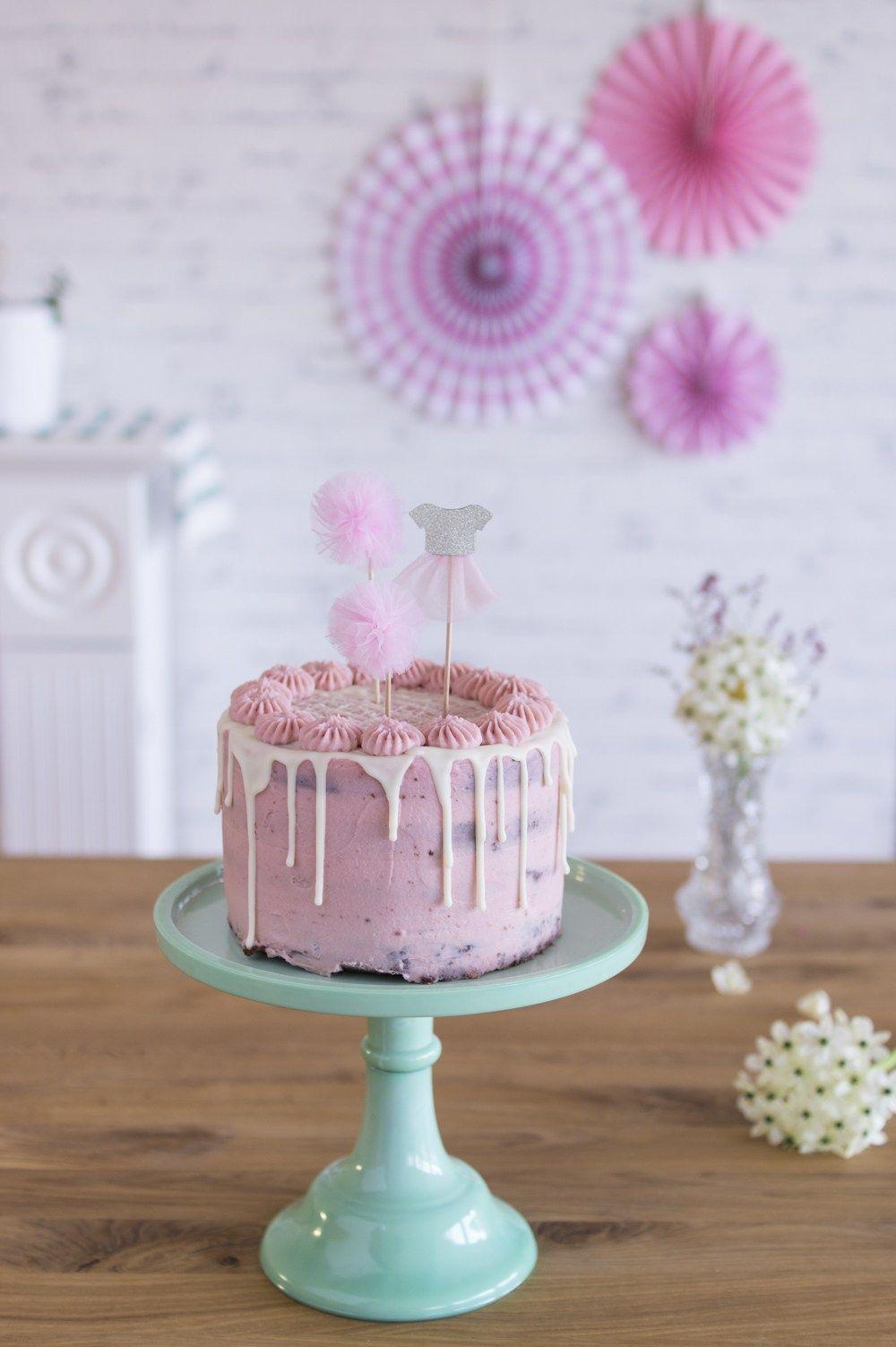 Schoko-Himbeer Torte & Dekoideen für einen Mädchen-Geburtstag | LieberBacken