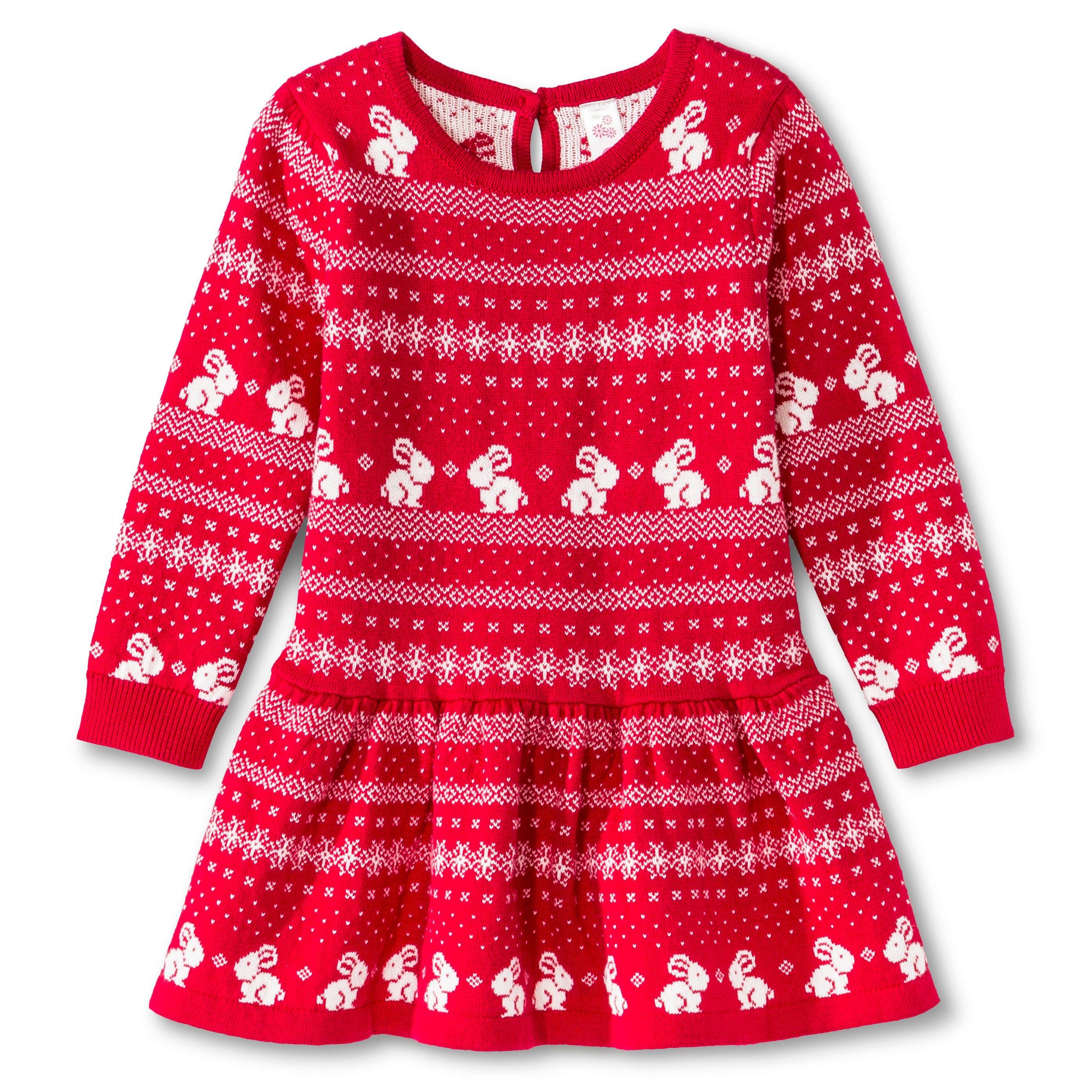 Toddler Girls Cherokee Sweater Dress Red Sweater Dress Red Dress Girls Rompers [ 2786 x 2786 Pixel ]