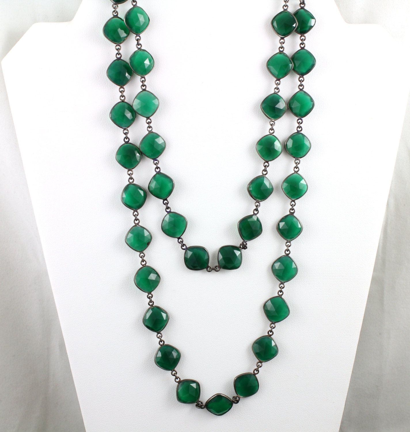 green jube onyx and vi products connie necklace gold faceted
