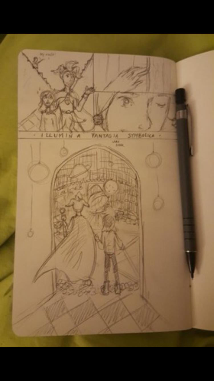 Dit is een tekening die ik heb gemaakt Kunst autobiografie ckv