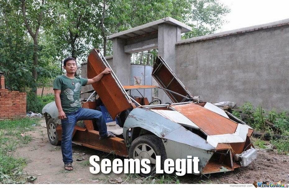 Seems Legit Meme Car insurance,