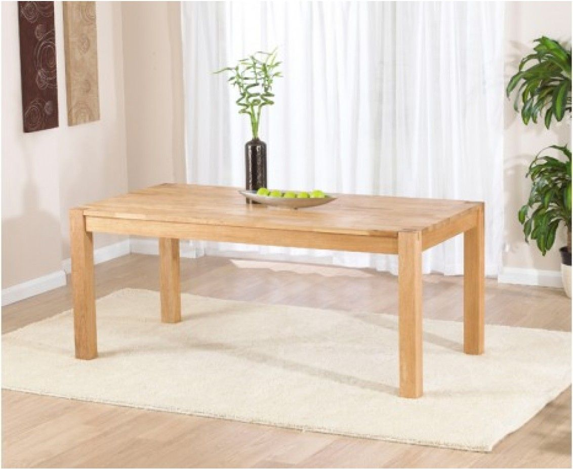 Verona 180Cm Solid Oak Extending Dining Table  The Great Fascinating Dining Room Oak Furniture Inspiration